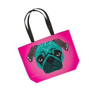 Stanley The Pug - Tote Bag - Art By Catherine Davis