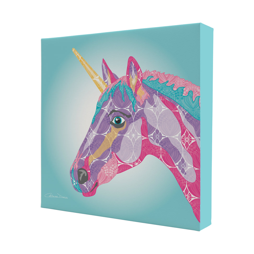 Unicorn - Mini Canvas - Art By Catherine Davis