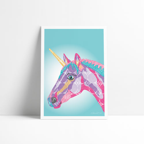 Unicorn - Art Print - Art By Catherine Davis