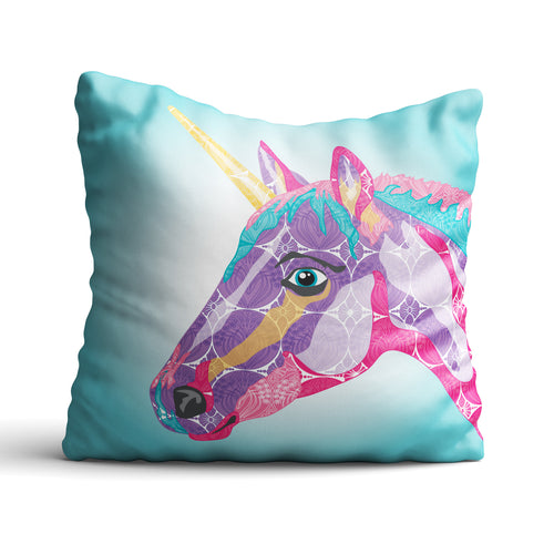 Unicorn - Cushion - Art By Catherine Davis
