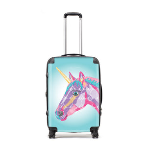 Unicorn - Suitcases - Art By Catherine Davis