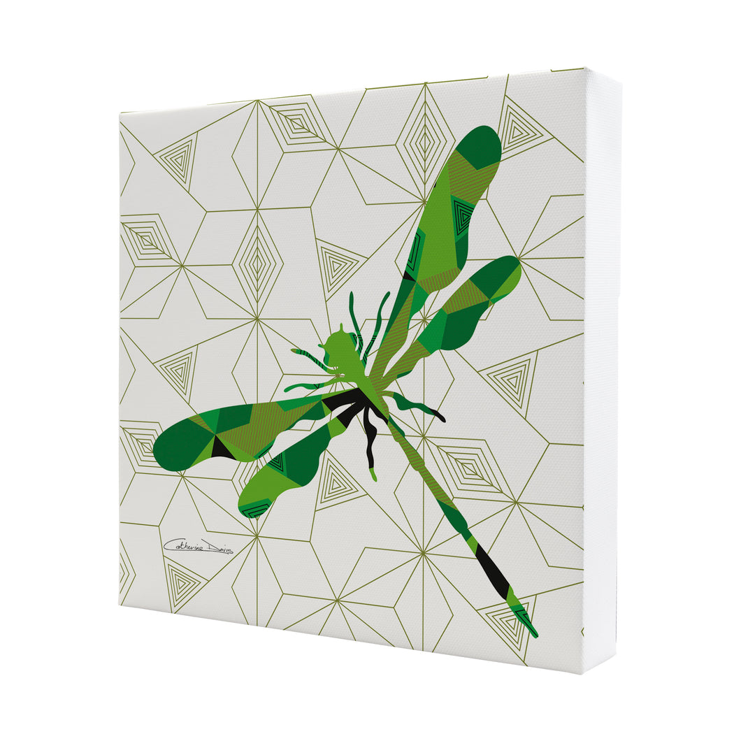 Dragonfly Geomal - Mini Canvas - Art By Catherine Davis