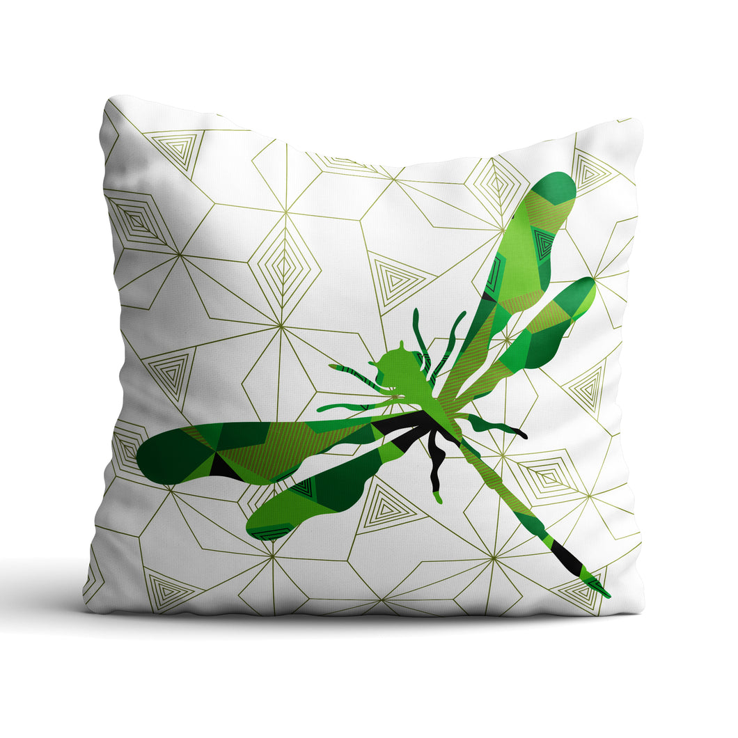 Dragonfly Geomal - Cushion - Art By Catherine Davis