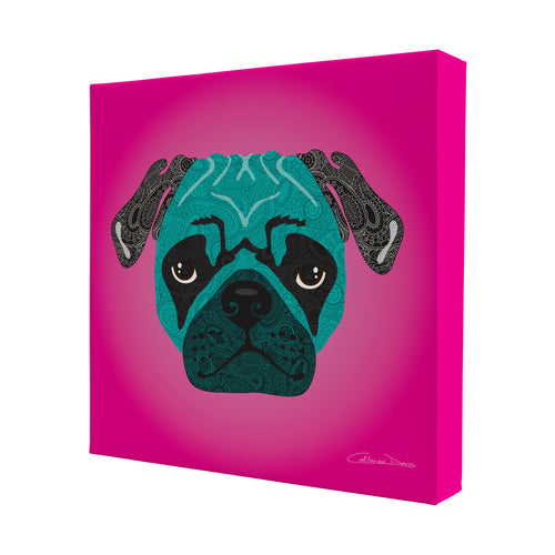 Stanley The Pug - Mini Canvas - Art By Catherine Davis