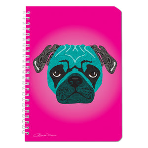 Stanley The Pug - Notebooks - Art By Catherine Davis
