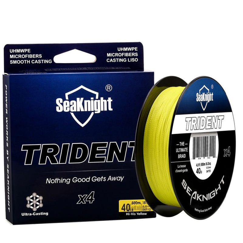 SeaKnigt 4 Strand Braided Wire 500m 30LB Fishing Line