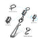 25pcs/Pack Fishing Rolling Swivels with String Hook Snap (Black)