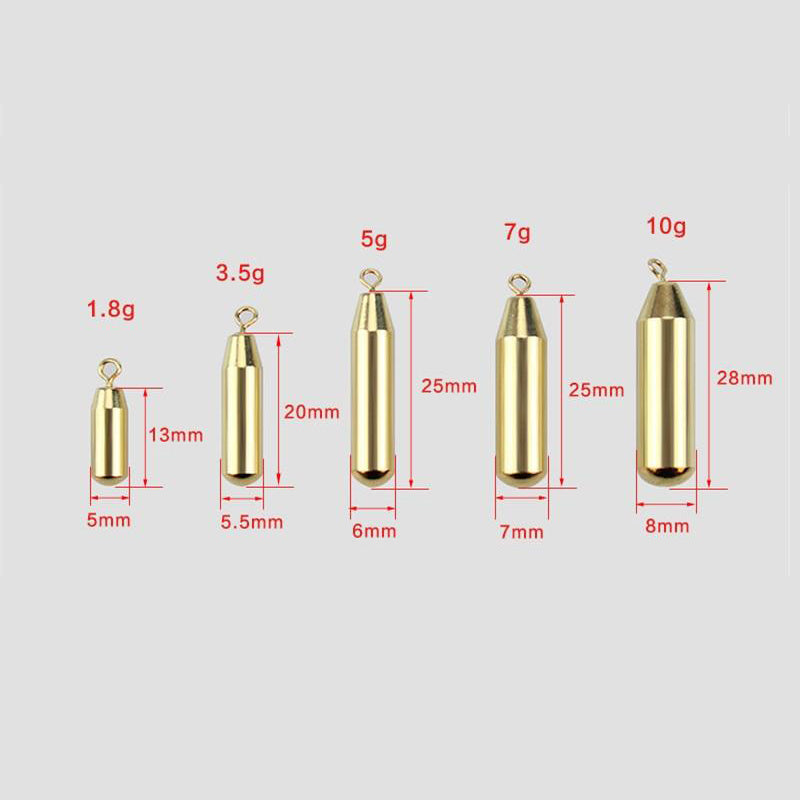 5 Pieces Bullet Weight Sinkers