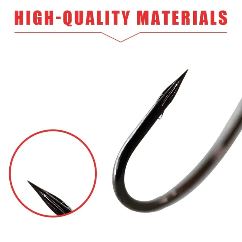 1pc Wide Crank Offset Fishing Hook with Weight