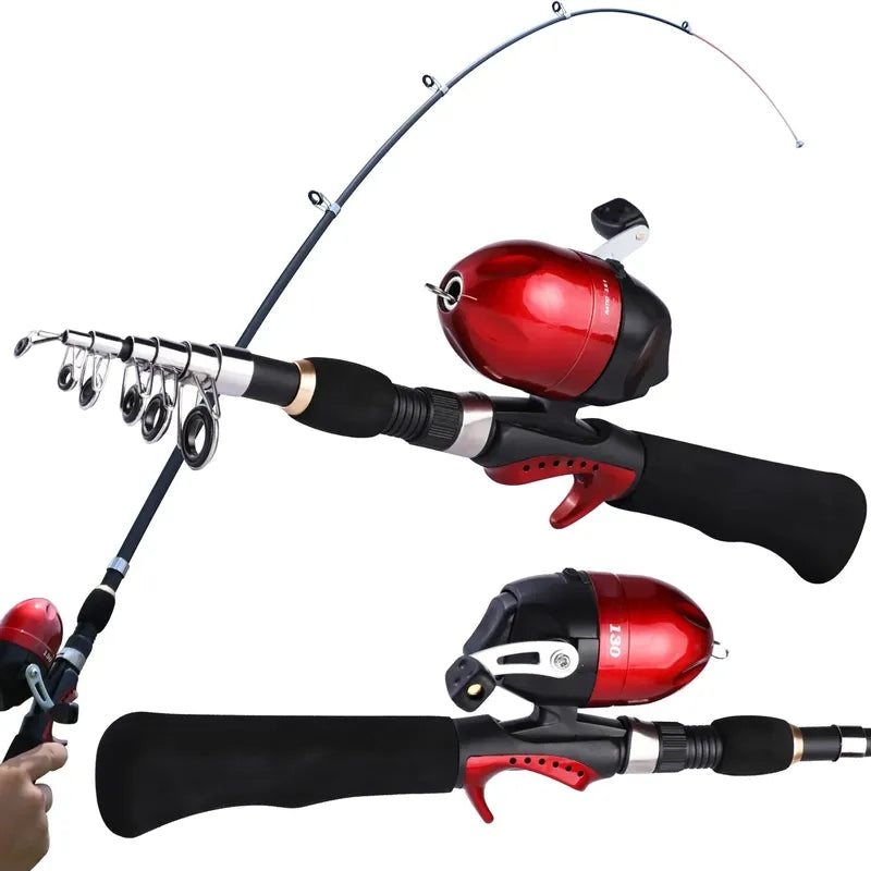 Sougayialng Children Telescopic Casting Fishing Combo