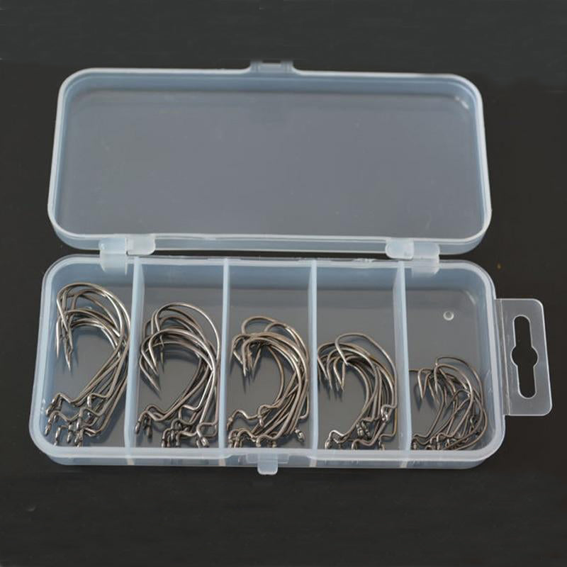 50pcs/Pack Worm Hook