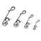50pcs/Pack Fishing Swivel Snaps with Fastlock Clips (White)