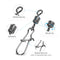 100pcs/Pack Fishing Rolling Swivels with Duo Lock Snap (Black)