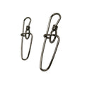 50pcs/Pack Fishing Swivel Snaps Insurance Lock (Black)