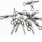 50pcs/Pack Fishing Rolling Swivels with Side Clip (White)