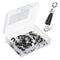 50pcs/Pack Rolling Swivel Fishing with Solid Rings(Black)