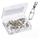 25pcs/Pack Fishing Ball Bearing Swivels with Crosslock Clip Snap (White)