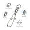 25pcs/Pack Fishing Ball Bearing Swivels with Duo Lock Snap (White)