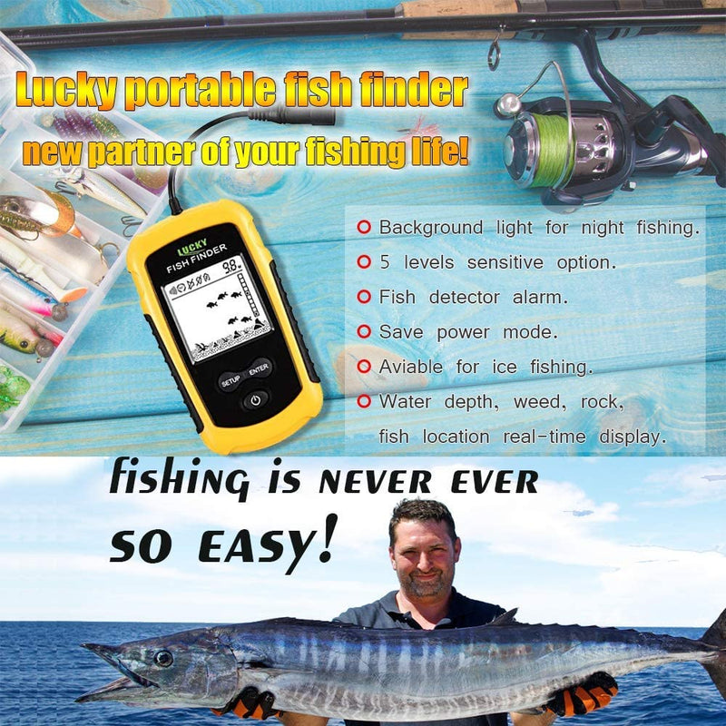 LUCKYLAKER Wired Fish Finder