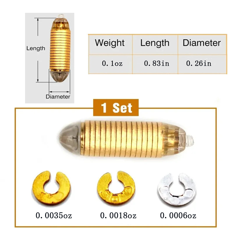 3pcs Adjustable Bullet Fishing Sinker