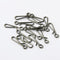 50pcs/Pack Fishing Swivel Snaps Opening (White)