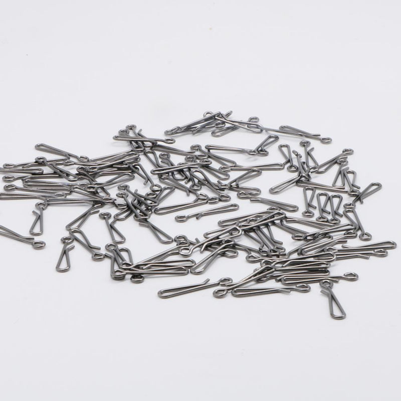 100pcs/Pack Fishing Swivels Safety Snaps (White)