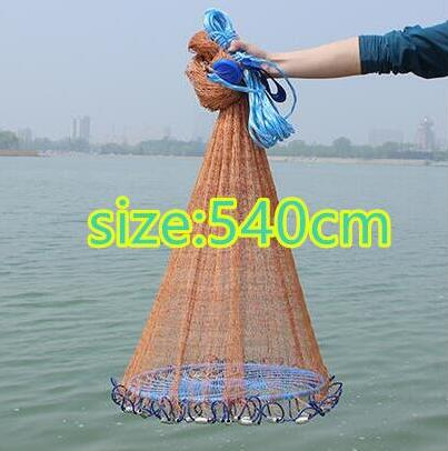 Throw Catch Fishing Net with big ring