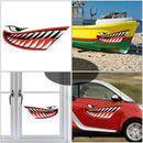2pcs Shark Teeth Mouth Stickers Kayak Accessories