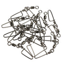 100pcs/Pack Fishing Rolling Swivels with Coastlock Snap (White)