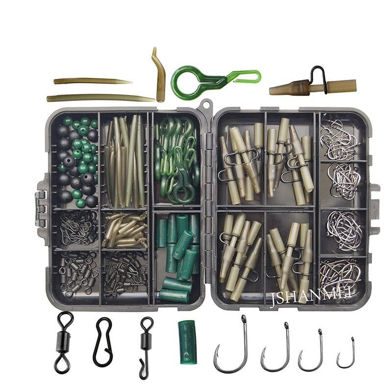 JSHANMEI 160pcs/lot Carp Fishing Tackle Kit Box