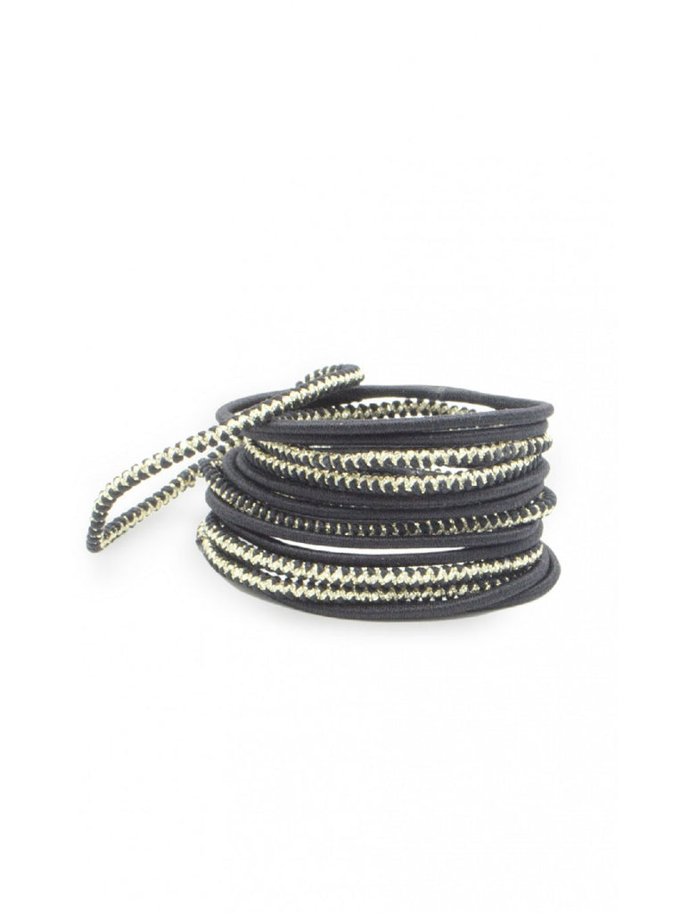 Thin Black Hair Elastics (x14)
