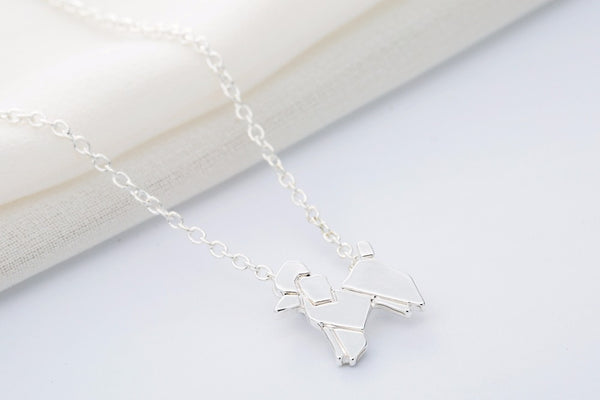 Origami Poodle Necklace