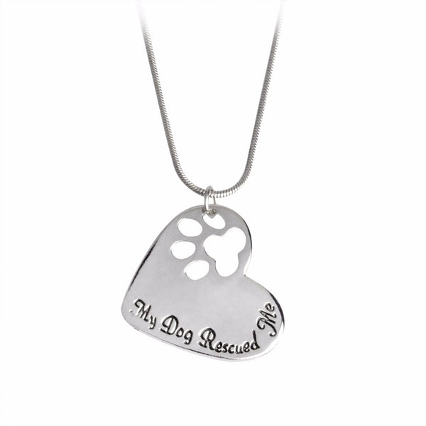 Heart Shaped Dog Pendant - Elegant Shoppers