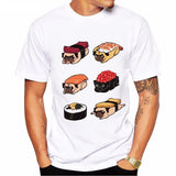 Sushi Pug Design T-Shirt - Elegant Shoppers