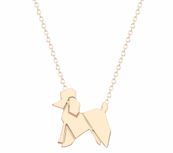 Origami Poodle Necklace - Elegant Shoppers