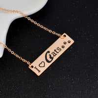 I Love Cats Necklace - Elegant Shoppers