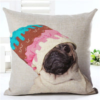 Pug Pillows Covers - Clothes Edition - Elegant Shoppers