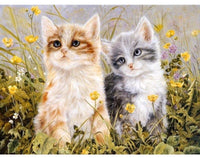 DIY Painting - Cat Couple - Elegant Shoppers
