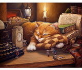 DIY Painting - Sleeping Cat - Elegant Shoppers