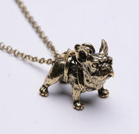 French Bulldog Necklace (gold, silver, black) - Elegant Shoppers