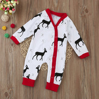 Baby | Infant Deer Romper Christmas Pajamas
