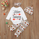 Happy Thanksgiving Newborn Infant Thanksgiving Romper Sets