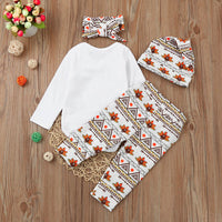 Happy Thanksgiving Newborn Infant Thanksgiving Romper Sets - Elegant Shoppers