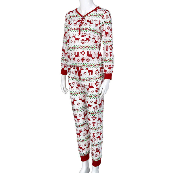 Christmas Adult Deer Pajamas Set For Women - Elegant Shoppers