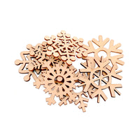 Christmas Wooden Snowflakes Hanging Ornaments - Elegant Shoppers