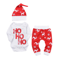 Christmas Newborn Infant Romper Deer Outfit Set - Elegant Shoppers