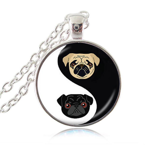 Yin Yang Pug Necklace - Elegant Shoppers