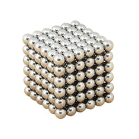 216pcs Electroplating Bucky Balls Magic Magnetic Stress Relief Balls (Silver) - Elegant Shoppers