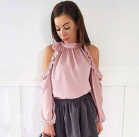 Open Shoulder Blouse - Elegant Shoppers