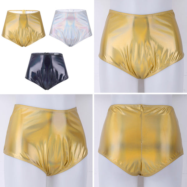 Festival/EDM Shiny Metallic High Waisted Booty Shorts